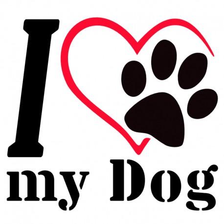 I love my Dog Aufkleber. Jetzt bestellen!