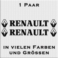 Renault mit Logo Aufkleber 1 Paar. Jetz bestellen! ✅