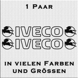 Iveco mit Logo Aufkleber in Kontur 1 Paar