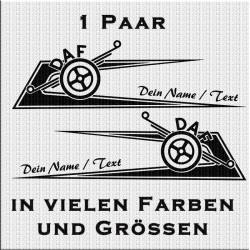 Zacken für Fahrerhaus DAF Variante 1 mit eigenem Text.Jetzt bestellen!✅