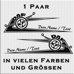Zacken für Fahrerhaus DAF Variante 2 mit eigenem Text.Jetzt bestellen!✅