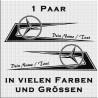 Zacken für Fahrerhaus Mercedes Power mit eigenem Text.Jetzt bestellen!✅