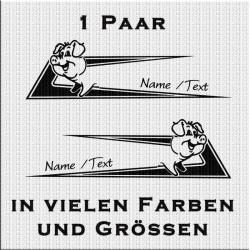Zacken für dein Fahrerhaus mit Schwein und eigenem Text. Jetzt bestellen!✅