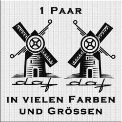 DAF mit Windmühle Aufkleber Paar Variante 2