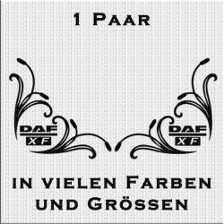 DAF XF Fensterdekor Paar