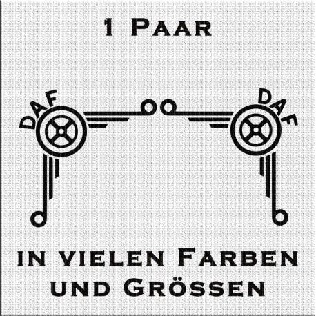 DAF Logo Fensterdekor Paar. Jetzt bestellen!✅