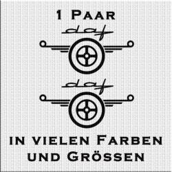DAF Logo Variante 2 Aufkleber Paar