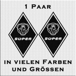 Raute Aufkleber Scania mit Super 1 Paar. jetzt bestellen!✅