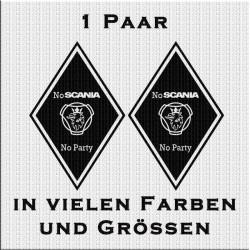 Raute Aufkleber Paar Scania No Party..Jetzt bestellen!✅