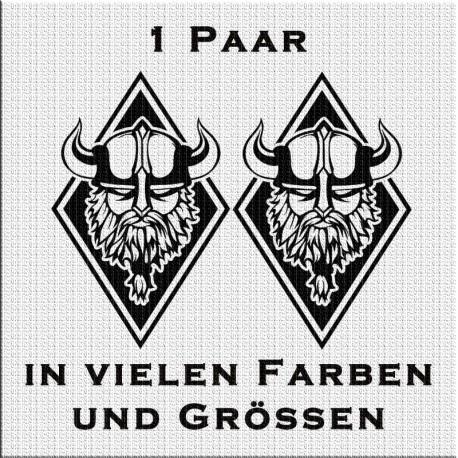 Raute Aufkleber Paar Wikinger Variante 5. Jetzt bestellen!✅