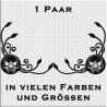 Fensterdekor Klassik Totenkopf Paar. Jetzt bestellen!✅