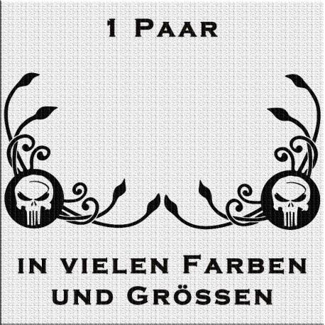 Fensterdekor Klassik Totenkopf Skull Paar. Jetzt bestellen!✅