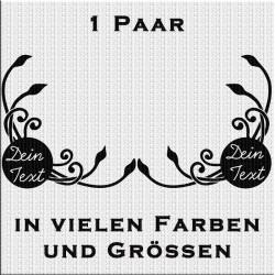 Fensterdekor Klassik mit eigenem Text 1 Paar. Jetzt bestellen!✅