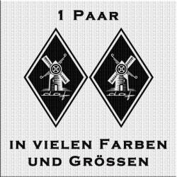 Raute Aufkleber mit DAF Windmühle 1 Paar. Jetzt bestellen!✅