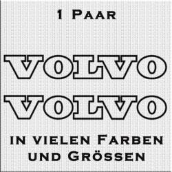 Volvo Schriftzug in Kontur Aufkleber Paar. Jetzt bestellen!✅