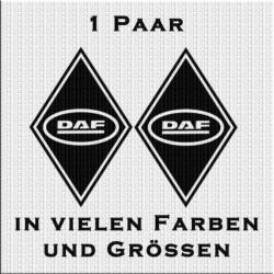 Raute Aufkleber mit DAF Schrift Paar. Jetzt bestellen!✅