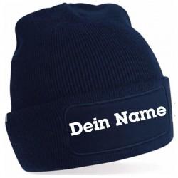 Beanie-Mütze mit eigenem Text. Jetzt bestellen!✅
