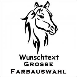 Pferd Aufkleber mit Wunschtext.Jetzt bestellen!✅