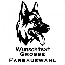 Hundeaufkleber Schäfer. Jetzt bestellen!✅