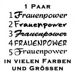 Frauenpower Schriftzug Paar verschiedene Varianten. Jetzt bestellen!✅