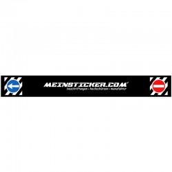 Heckschürze bedruckt mit meinsticker.com und Verkehrszeichen. Jetzt bestellen! ✅