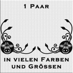 Fensterdekor Klassik Kuhkopf. Jetzt bestellen!✅