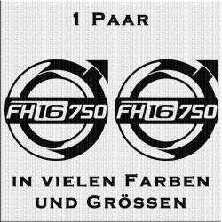 VOLVO FH16 750 Aufkleber Paar. Jetzt bestellen!✅