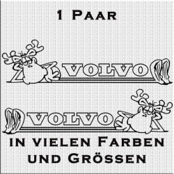 Elch mit Volvo Schriftzug Aufkleber Paar. Jetzt bestellen!✅