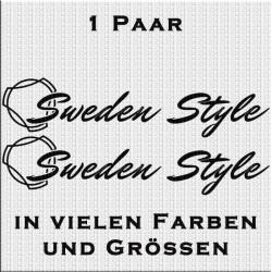 Sweden Style Scania Aufkleber Variante 1 Aufkleber Paar. Jetzt bestellen!✅