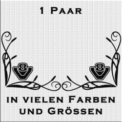 Fensterdekor V8 Aufkleber Paar.Jetzt bestellen!✅