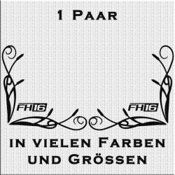 Fensterdekor FH16 Aufkleber Paar.Jetzt bestellen!✅