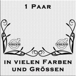 Fensterdekor Volvo Aufkleber Paar.Jetzt bestellen!✅