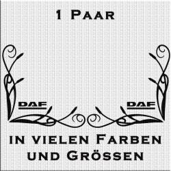 Fensterdekor DAF Schriftzug Aufkleber Paar.Jetzt bestellen!✅