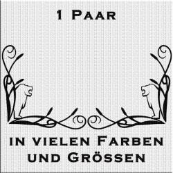 Fensterdekor halber Löwe Aufkleber Paar.Jetzt bestellen!✅