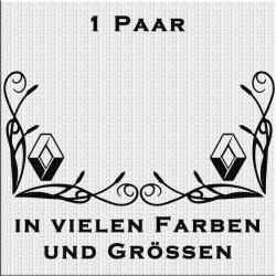 Fensterdekor Renault Aufkleber Paar.Jetzt bestellen!✅