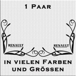 Fensterdekor Renault Schriftzug Aufkleber Paar.Jetzt bestellen!✅