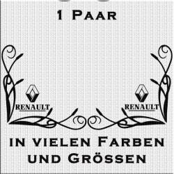 Fensterdekor Renault mit Schriftzug Aufkleber Paar.Jetzt bestellen!✅
