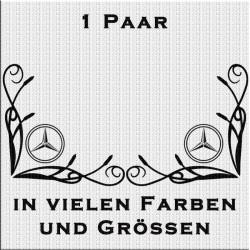 Fensterdekor Mercedes-Stern Aufkleber Paar.Jetzt bestellen!✅
