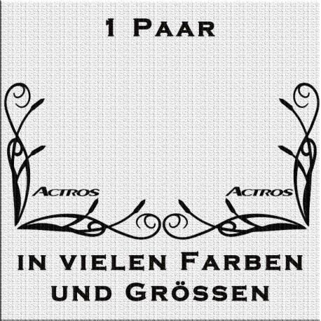 Fensterdekor Actros Aufkleber Paar.Jetzt bestellen!✅