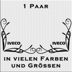 Fensterdekor Iveco Schriftzug Aufkleber Paar.Jetzt bestellen!✅