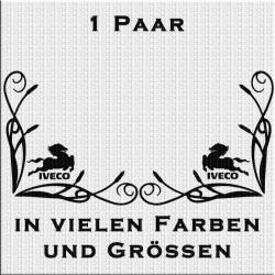 Fensterdekor Iveco mit Schriftzug Aufkleber Paar.Jetzt bestellen!✅