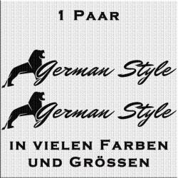 German Style Aufkleber Variante 2 Aufkleber Paar.Jetzt bestellen!✅