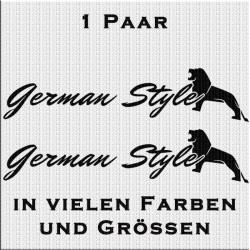 German Style Aufkleber Variante 1 Aufkleber Paar.Jetzt bestellen!✅