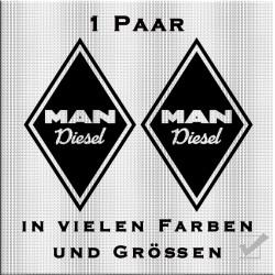 Raute Aufkleber für MAN Diesel.Jetzt bestellen!✅