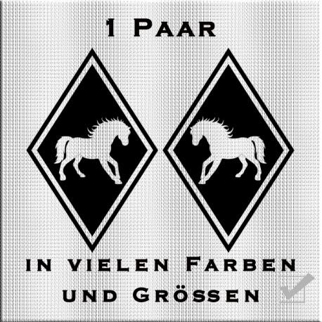 Raute Aufkleber Pferd Paar.Jetzt bestellen!✅