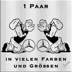 Popeye mit Mercedesstern Aufkleber 1 Paar.Jetzt bestellen!✅