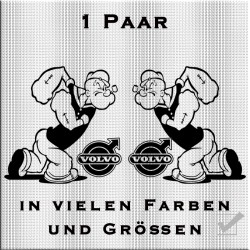 Popeye mit Volvo Aufkleber 1 Paar.Jetzt bestellen!✅