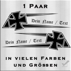 Zacken für dein Fahrerhaus Eisernem Kreuz eigenem Text. Jetzt bestellen!✅