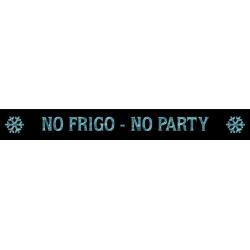 Edel bedruckte Heckschürze - NO FRIGO-NO PARTY. Jetzt bestellen! ✅