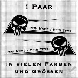 Zacken für dein Fahrerhaus Skull und deinem eigenem Namen. Jetzt bestellen!✅